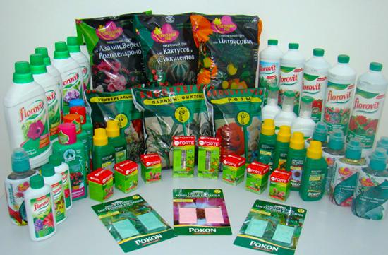 Минеральные и азотные удобрения для комнатных цветов
