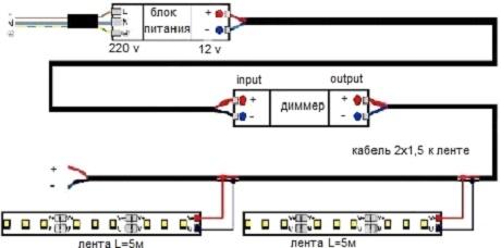 Схема фитолампы